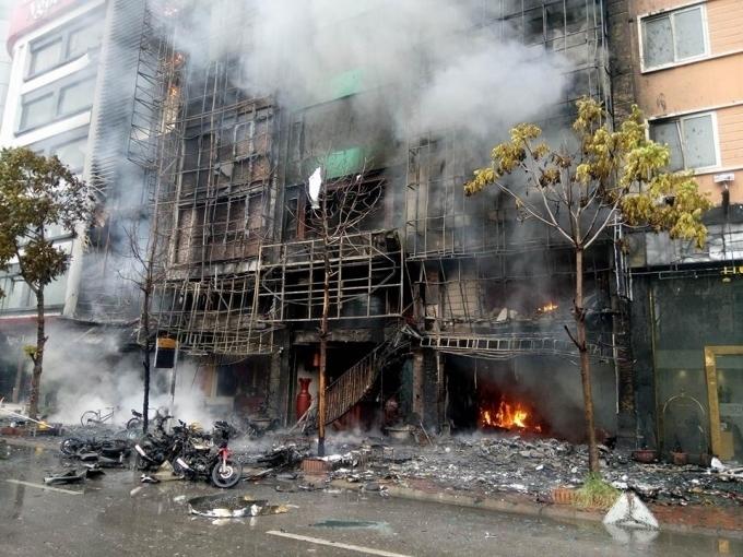Hiện trường xảy ra vụ cháy.