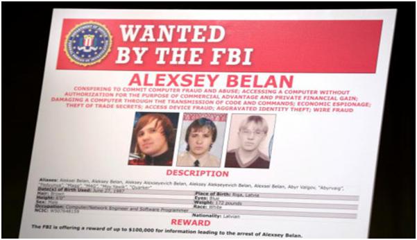 Alexsey Belan, một trong những tin tặc bị FBI truy nã. (Ảnh: Reuters)