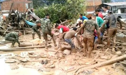 Các nỗ lực cứu hộ vẫn đang được tiến hành tại Colombia.