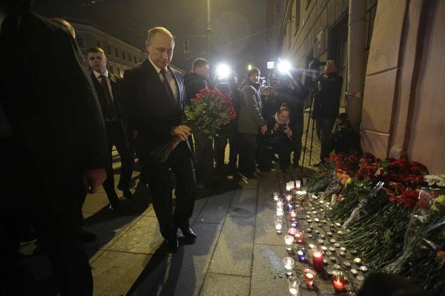 Phát biểu sau vụ nổ, ông Putin cho biết giới chức Nga không loại trừ đây là một vụ tấn công khủng bố. (Ảnh: Reuters)