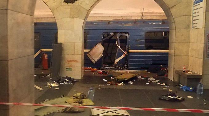 Cơ quan tình trạng khẩn cấp St. Petersburg thông báo các vụ nổ có khả năng do thiết bị nổ tự chế gây ra.