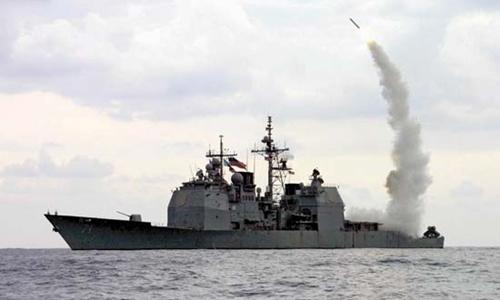 Tàu Cape St. George, hải quân Mỹ, phóng tên lửa hành trình Tomahawk. Ảnh:US Navy.