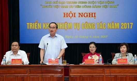 Chủ tịch Ủy ban Trung ương MTTQ Việt Nam Nguyễn Thiện Nhân chủ trì Hội nghị