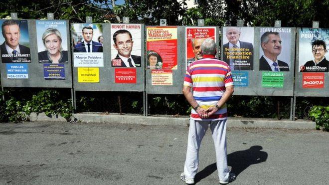 Có 11 ứng viên tham gia bầu cử tổng thống Pháp vòng I (Ảnh: Reuters)