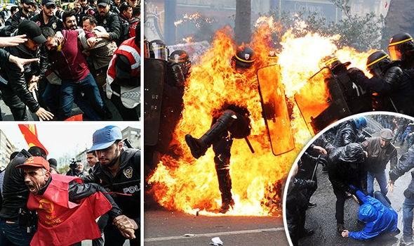 Các cảnh bạo lực đã diễn ra tại Pháp, Thổ Nhĩ Kỳ, Đức và Tây Ban Nha. (Nguồn: Getty)