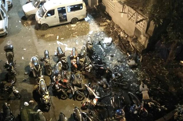 Hiện trường xảy ra vụ nổ bom. (Ảnh: Reuters)