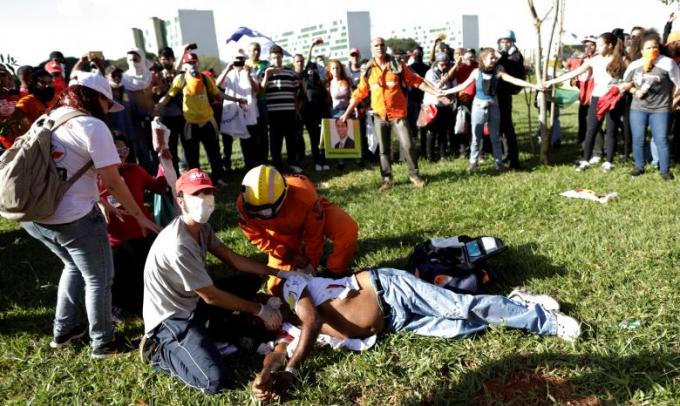 Chính quyền Brasilia cho biết có 49 người bị thương.