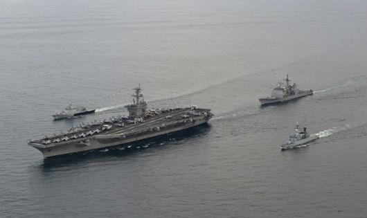 Tàu Hải quân của Malaysia tuần tra trên biển. (Nguồn: Wikipedia/Vietnam+)
