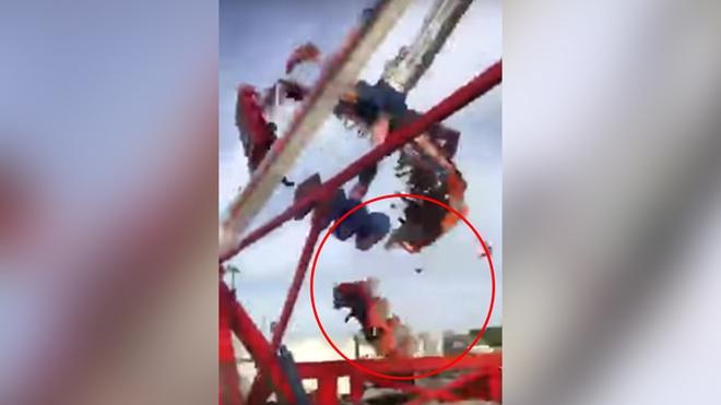 Hình ảnh từ video được một du khách ghi lại.