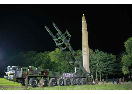 Triều Tiên công bố hình ảnh vụ thử tên lửa ICBM Hwasong-14.