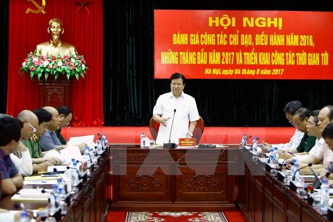 Phó Thủ tướng Trịnh Đình Dũng phát biểu kết luận hội nghị. (Ảnh: An Đăng/TTXVN)