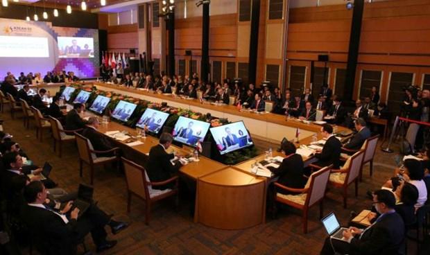 Các Bộ trưởng dự Hội nghị Bộ trưởng Ngoại giao các nước tham gia Cấp cao Đông Á (EAS) lần thứ 7.