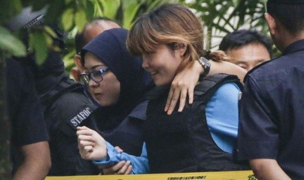 Đoàn Thị Hương bị dẫn giải ra tòa trong một phiên xử. (Nguồn: Reuters)