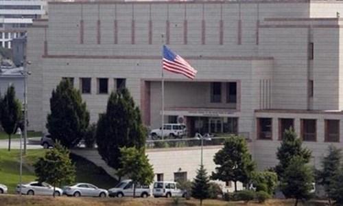 Đại sứ quán Mỹ tại Ankara, Thổ Nhĩ Kỳ. Ảnh: Press TV