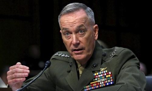 Chủ tịch Hội đồng tham mưu trưởng Liên quân Mỹ Joseph Dunford. Ảnh: Reuters