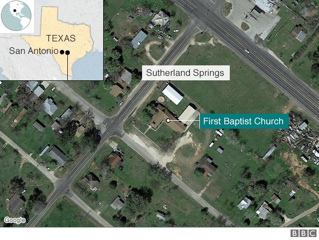 Khu vực xảy ra vụ xả súng.