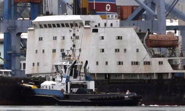 Một tàu chở hàng Triều Tiên. Ảnh minh họa: NBC News