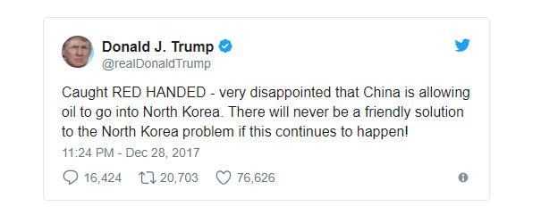 Chia sẻ của Tổng thống Trump trên Twitter. (Ảnh: Twitter)