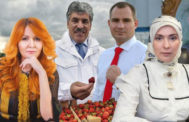 4 ứng viên tổng thống Nga từ trái qua phải gồm Elvira Agurbash, Pavel Grudinin, Maxim Suraikin, Ayna Gamzatova (Ảnh: Moscow Times)