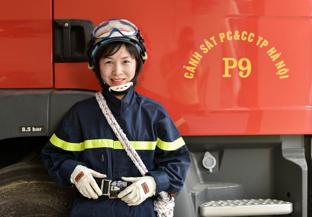 Đơn vị chị đang công tác được thành lập vào tháng 7/2017. Chị là cán bộ nữ duy nhất xung phong công tác tại Đội Cứu nạn cứu hộ dưới nước (Phòng Cứu nạn cứu hộ - Cảnh sát PCCC Hà Nội).