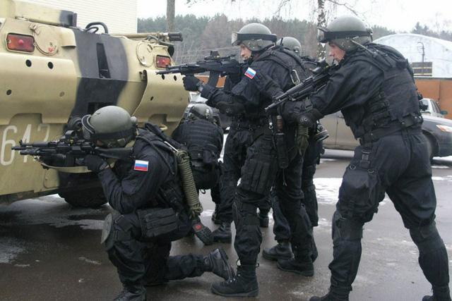 Lực lượng an ninh Nga (Ảnh: FSB Press Service)