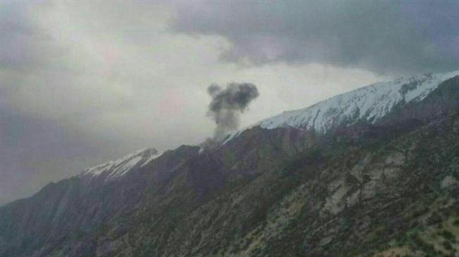 Khu vực xảy ra vụ tai nạn máy bay.