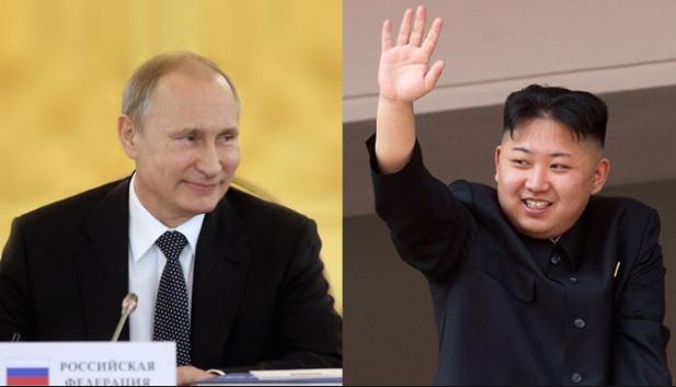 Tổng thống Nga Vladimir Putin và nhà lãnh đạo Triều Tiên Kim Jong-un.(Ảnh: Getty)