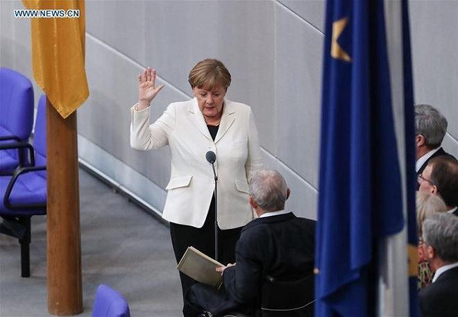 Bà Merkel tuyên thệ nhậm chức Thủ tướng nhiệm kỳ thứ 4