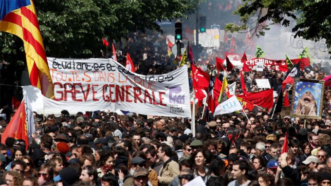 Cuộc biểu tình diễn ra vào Quốc tế Lao động (1/5/2018) tại thủ đô Paris, bắt đầu từ Place de la Bastille. Theo cảnh sát Pháp, có tổng cộng khoảng 20.000 người tham gia, dù con số mà các công đoàn đưa ra là 55.000 người.