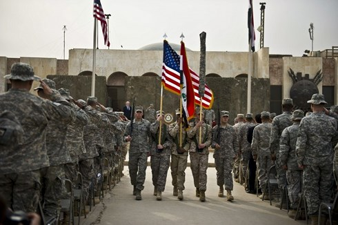 Binh sĩ Mỹ làm nhiệm vụ ở Iraq. Ảnh:lobelog.