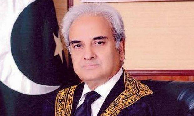 Chánh án Tòa án Tối cao Nasir Ul Mulk giữ chức Thủ tướng lâm thời Pakistan. (Nguồn: tribune.com.pk)