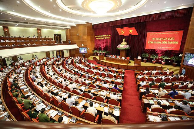 Hội nghị toàn quốc về phòng, chống tham nhũng. (Ảnh: Dân trí)