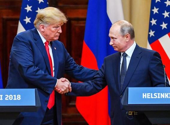 Tổng thống Trump và người đồng cấp Nga Putin gặp nhau tại Helsinki ngày 16/8 (Ảnh: Getty)