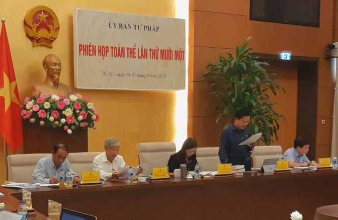 Phó chủ nhiệm UB Tư pháp Nguyễn Văn Pha