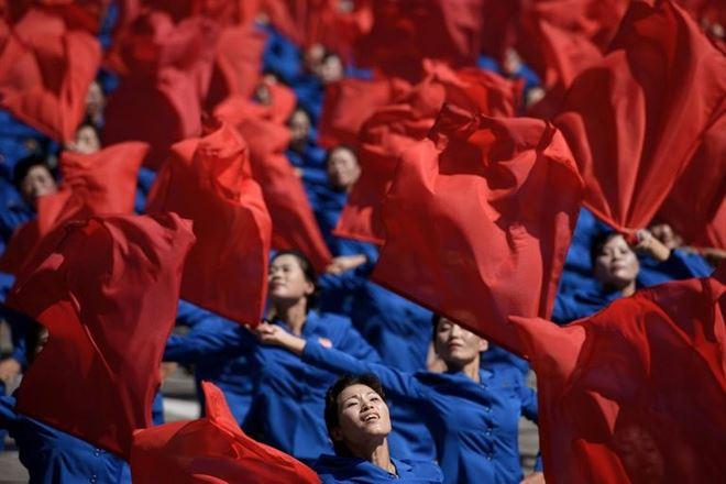 Màn biểu diễu của người dân Triều Tiên.