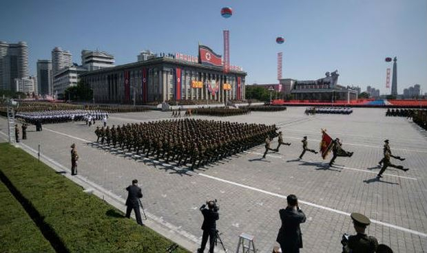 Hình ảnh tại lễ diễu binh kỷ niệm Quốc khánh Triều Tiên.