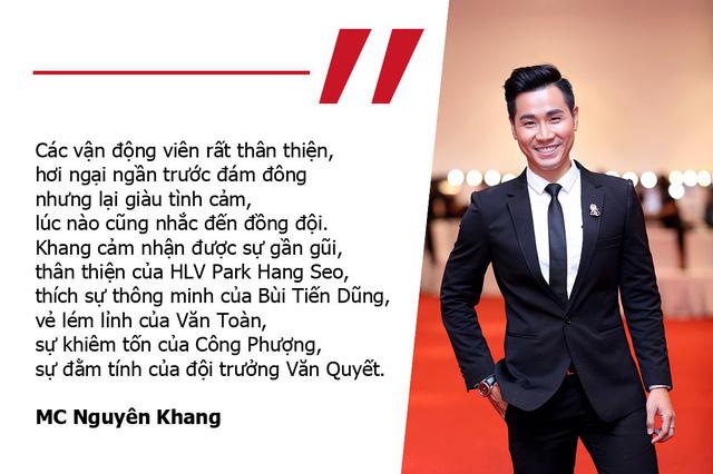 """MC Nguyên Khang: """"Thầy Park thân thiện, Tiến Dũng thông minh, Văn Toàn lém lỉnh"""""""