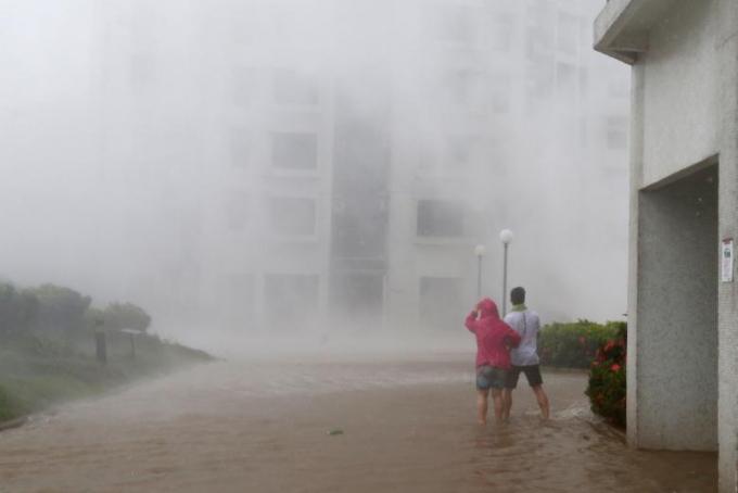 Đài phát thanh Hong Kong cho biết, khoảng 130 người bị thương và gần 1.000 người phải đi sơ tán khi bão đổ bộ vào Hong Kong trong ngày 16/9.