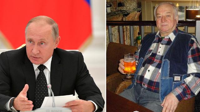 Tổng thống Nga Putin và cựu điệp viên Skripal. (Ảnh: RT)