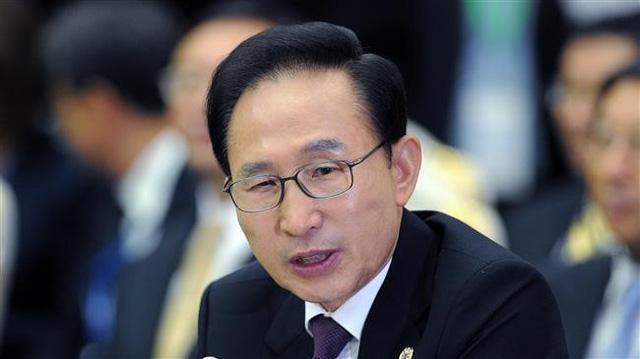 Cựu Tổng thống Hàn Quốc Lee Myung-bak. (Ảnh: AFP)