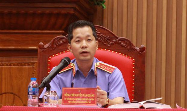 Tiến sĩ Nguyễn Văn Quảng, Phó Viện trưởng Viện kiểm sát nhân dân Tối cao.