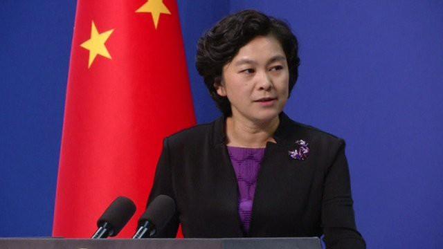 Phát ngôn viên Bộ Ngoại giao Trung Quốc Hoa Xuân Oánh (Ảnh: AFP)