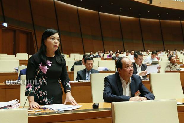 ĐB Phạm Khánh Phong Lan nêu nên tình trạng thuốc giả cũng như bán thuốc không hóa đơn
