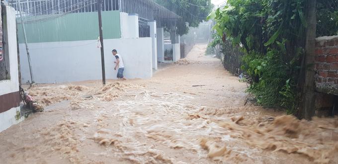 Nhiều khu vực nước chảy xiết