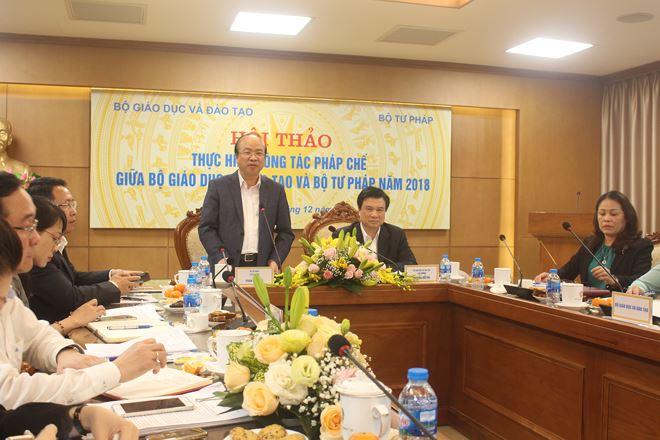 Thứ trưởng Phan Chí Hiếu cho biết luôn cảm nhận được tình cảm chân thành từ phía Bộ Giáo dục và Đào tạo