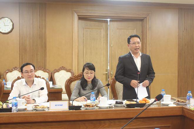 Phó Vụ trưởng Vụ Các vấn đề chung về xây dựng pháp luật Trần Văn Đạt đề xuất cơ chế tăng cường hơn nữa hiệu quả phối hợp