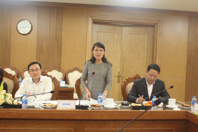 Phó Cục trưởng Cục Kiểm tra văn bản quy phạm pháp luật Nguyễn Thị Thu Hòe nói về kết quả phối hợp trong kiểm tra văn bản