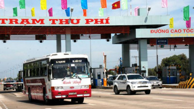 Trạm thu phí cao tốc TP HCM- Trung Lương