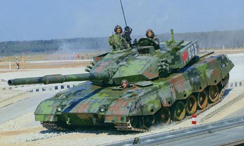 Một xe tăng chiến đấu chủ lực Type 99A của quân đội Trung Quốc. Ảnh:ChinaNews.