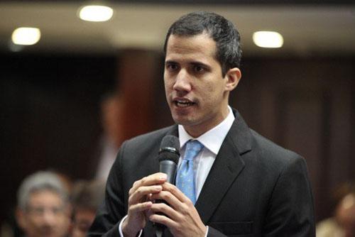 ÔngJuan Guaido - Lãnh đạo phe đối lập Venezuela. Ảnh:AP.